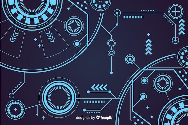 Diseño abstracto del fondo de la tecnología del hud