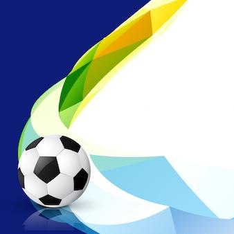 Diseño abstracto de fútbol con estilo