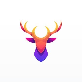 Diseño abstracto de la ilustración de los ciervos