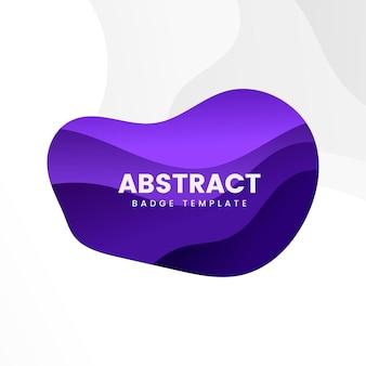 Diseño abstracto de la insignia en púrpura