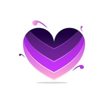 Diseño abstracto del logotipo colorido del corazón de la belleza