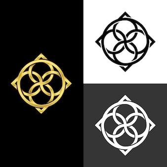 Diseño abstracto para logotipo en dos versiones.