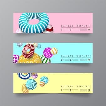 Diseño abstracto y minimalista de banners.