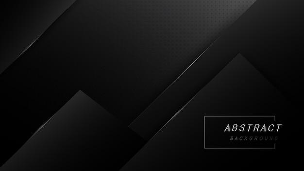Diseño abstracto oscuro con fondo de capas de superposición negro