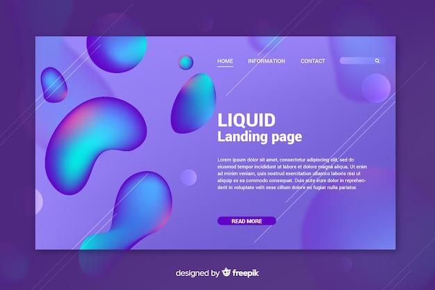 Diseño abstracto de página de aterrizaje