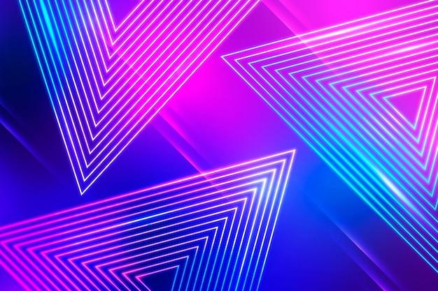 Diseño abstracto del papel pintado de las luces de neón