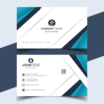 Diseño abstracto de plantilla creativa de tarjeta de visita