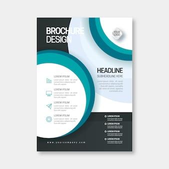Diseño abstracto de plantilla de folleto comercial