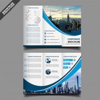 Diseño abstracto plantilla de folleto triple
