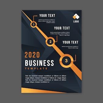 Diseño abstracto de plantilla de negocios