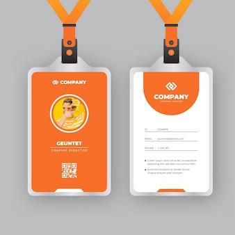 Diseño abstracto de plantilla de tarjetas de identificación