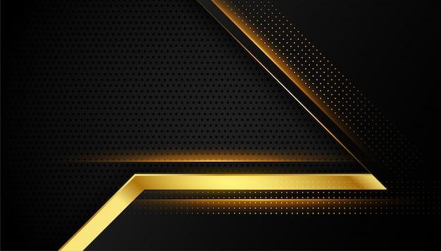 Diseño abstracto premium negro y dorado