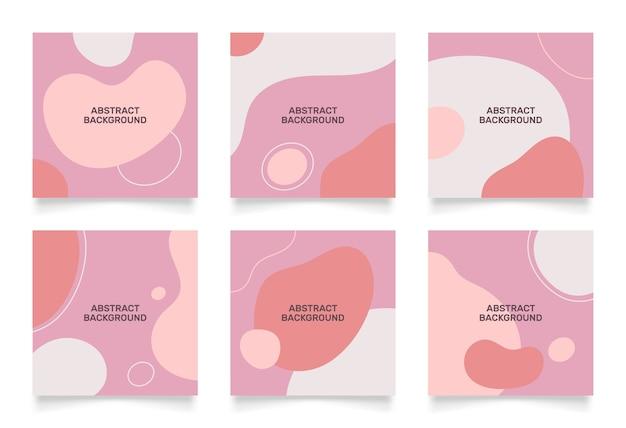 Diseño abstracto para publicación de insta en redes sociales. objeto dibujado a mano en forma de garabato.