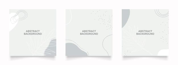 Diseño abstracto para publicación en redes sociales. objeto dibujado a mano con forma de garabato verde blanco doodle.