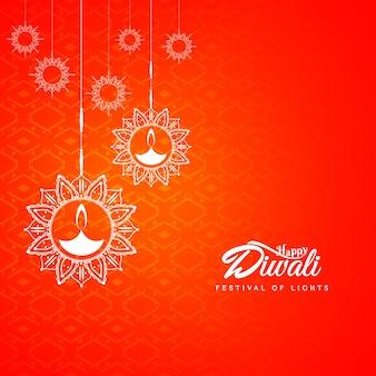 Diseño abstracto rojo de diwali