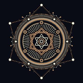 Diseño abstracto sagrado o celestial