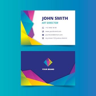 Diseño abstracto para tarjeta de visita colorida