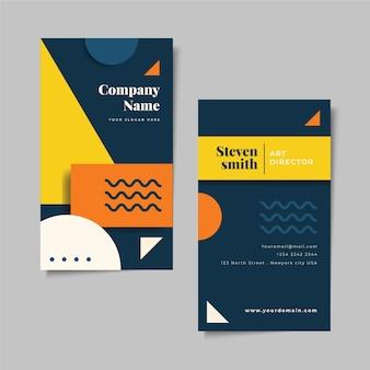 Diseño abstracto de tarjeta de visita profesional