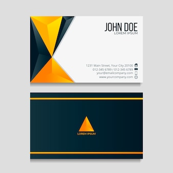 Diseño abstracto para tarjeta de visita