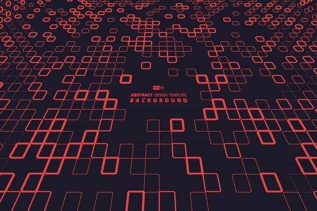 Diseño abstracto de tecnología de cuadrado rojo