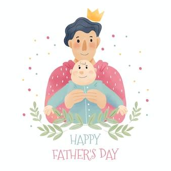 Diseño de acuarela celebración del día del padre