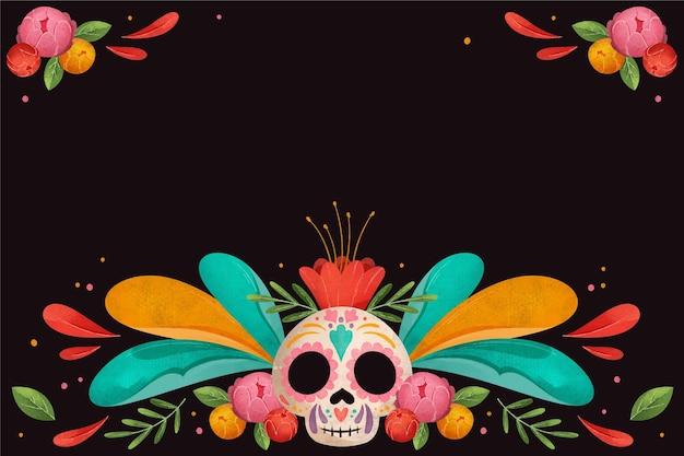 Diseño de acuarela del día de muertos