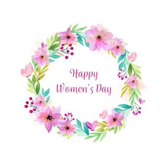 Diseño de acuarela para el evento de celebración del día de la mujer.