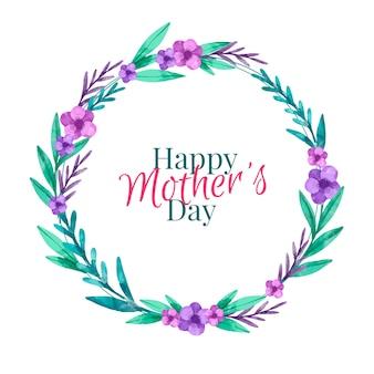 Diseño de acuarela evento del día de la madre