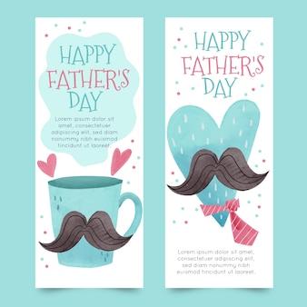 Diseño de acuarela pancartas del día del padre