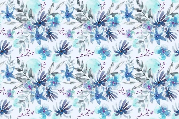 Diseño de acuarela de patrón floral