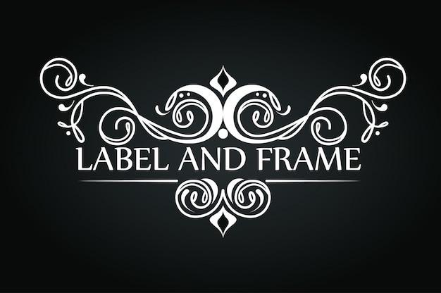Diseño de adorno para logotipo de lujo.