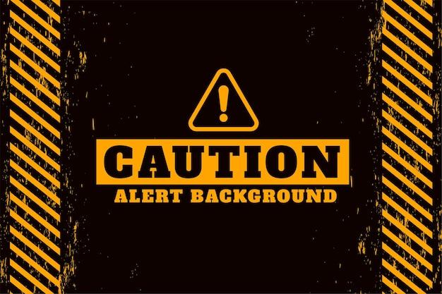 Diseño de advertencia de alerta de precaución