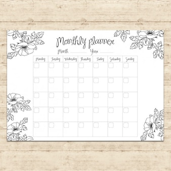 Diseño de agenda del mes