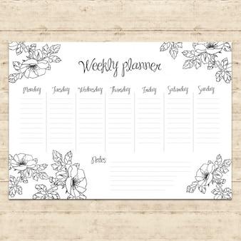 Diseño de agenda de la semana
