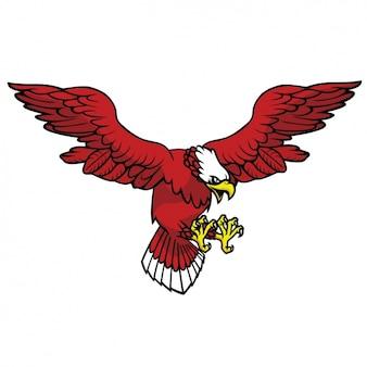 Diseño de águila a color
