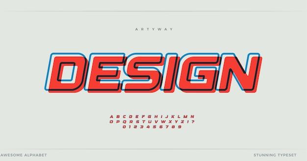 Diseño de alfabeto offset.