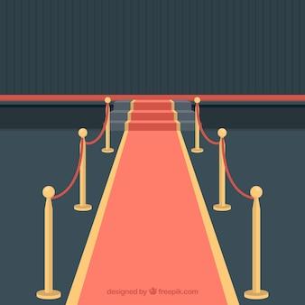 Diseño de alfombra roja