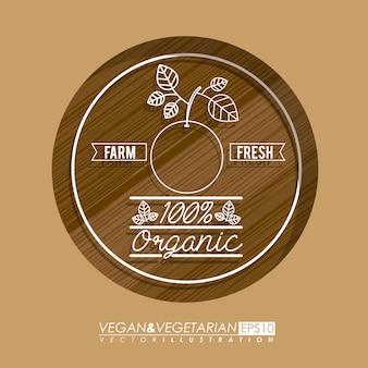 Diseño de alimentos, ilustración vectorial
