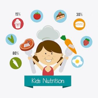 Diseño de alimentos para niños.