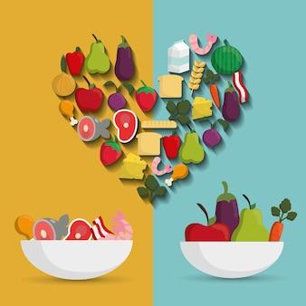 Diseño de alimentos sanos y orgánicos.