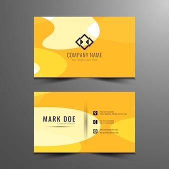 Diseño amarillo abstracto de tarjeta de visita
