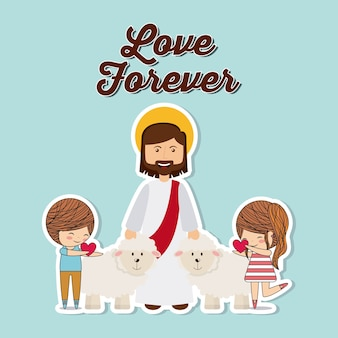 Diseño de amor católico