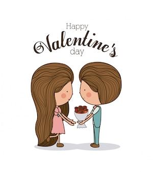 Diseño de amor, ilustración vectorial.
