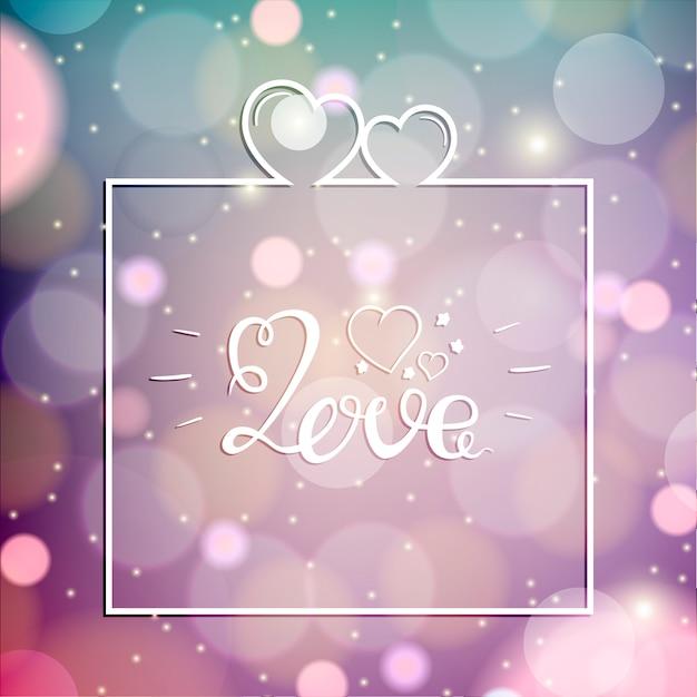 Diseño del amor sobre el ejemplo rosado del vector del fondo. feliz día de san valentín