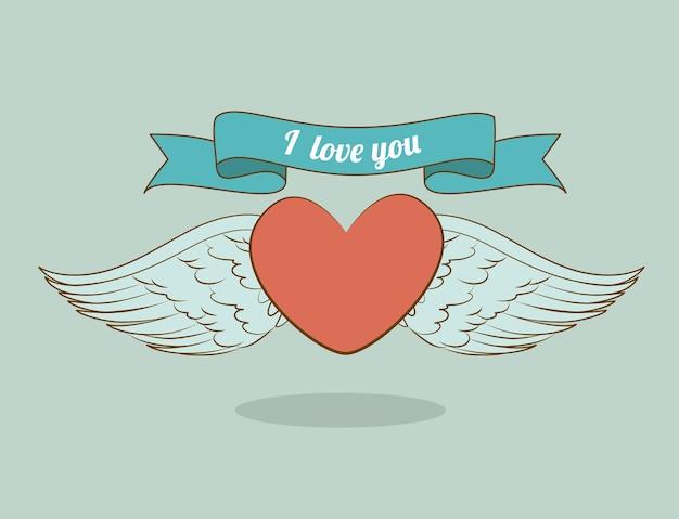 Diseño del ángel, ilustración vectorial