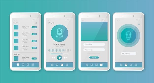 Diseño de la aplicación del reproductor de música