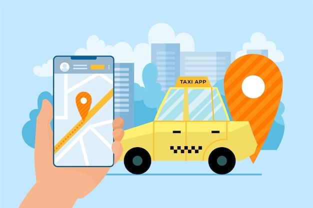 Diseño de aplicación de taxi