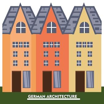 Diseño de arquitectura de alemania con casas