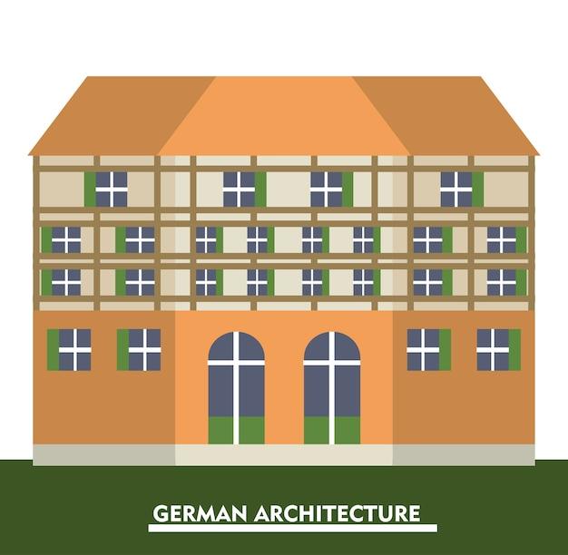 Diseño de arquitectura de alemania con icono de construcción