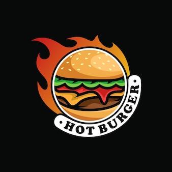 Diseño de arte vectorial de logotipo de hamburguesa
